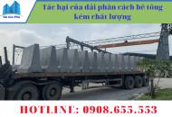 Tác hại của dải phân cách bê tông kém chất lượng