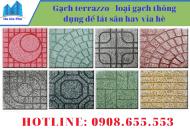 Gạch terrazzo - loại gạch thông dụng để lát sân hay vỉa hè hiện nay